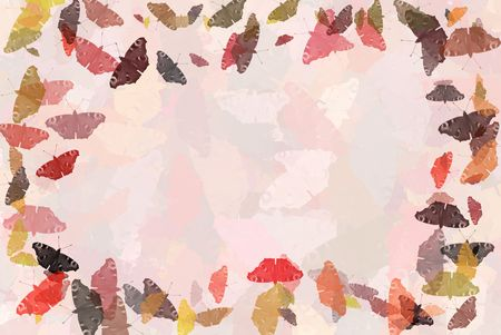 The background with coloured silhouettes of peacock butterflies photo
