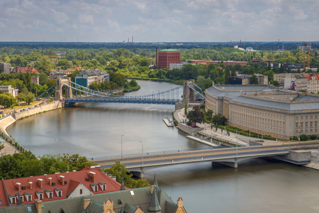 Wroclaw bridges without traffic and river - Wroclaw, Poland