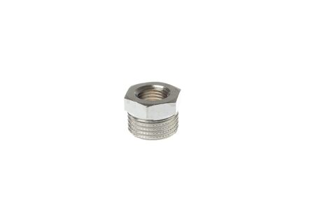 Metal nipple reducer. Inner and outer thread 1/4