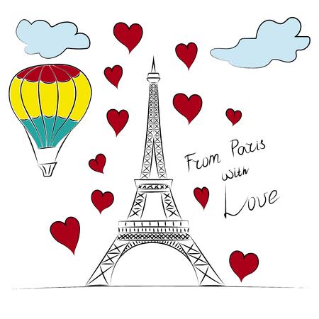 romance: Paris, Eiffel tower and romance travel
