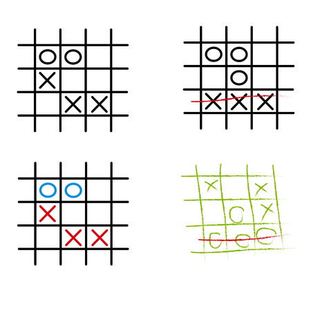 pedagogical: Playing Tic Tac Toe variations on checked paper
