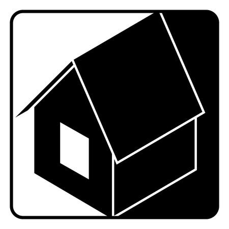 isometry: home web icon isometry design. illustration. Isolated