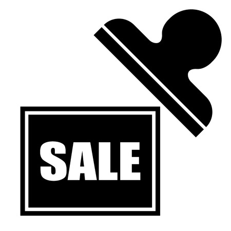 rectangular stamp Sale Icon