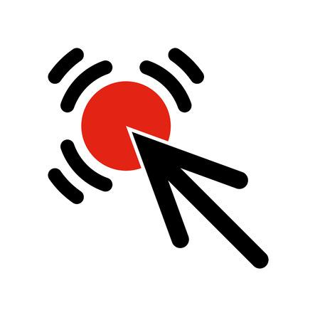 Arrow click icon illustration Illustration