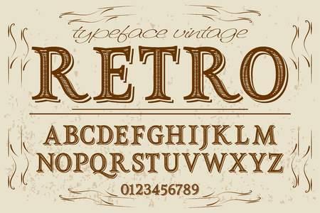 Vintage font handcrafted vector named retro.