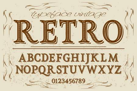 Vintage font handcrafted vector named retro.