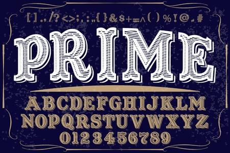 Font handcrafted vector script alphabet font vector Illustration