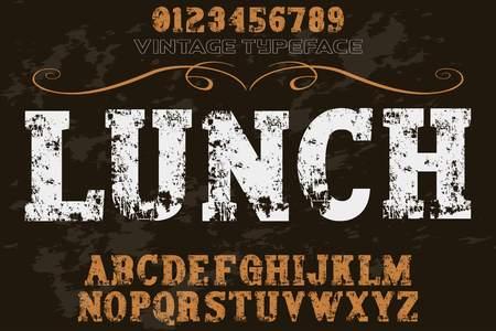 font typeface alphabet vintage
