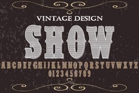 Font alphabet script typeface vector named show