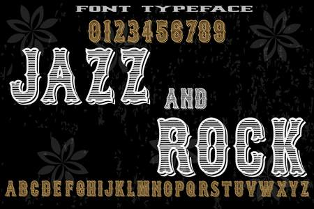 vintage font alphabet old style vector named-jazz and rock
