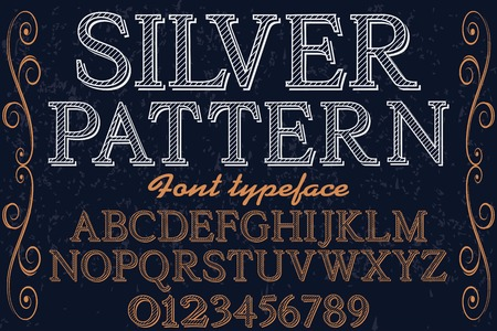 vintage font typeface handcrafted vector named silver pattern