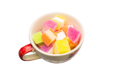 sours: Colorful jelly candies in square shape