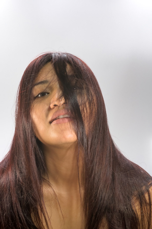 Asian women hair off photo