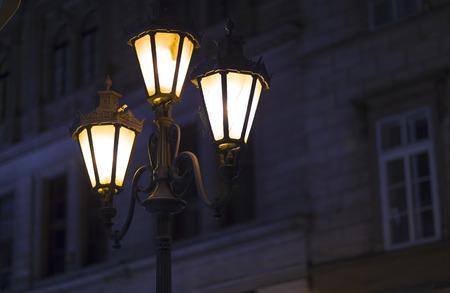 iluminated: Old street lamp