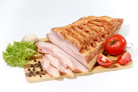 cooked meat and cold cuts photo