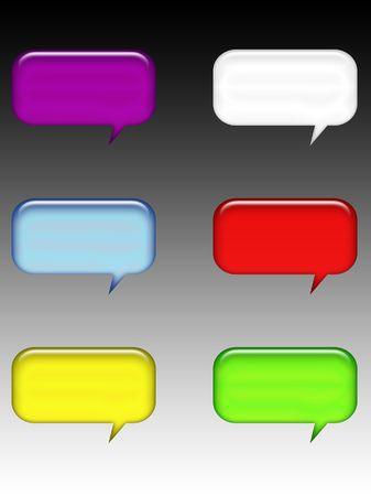 buble: symbol talk Stock Photo