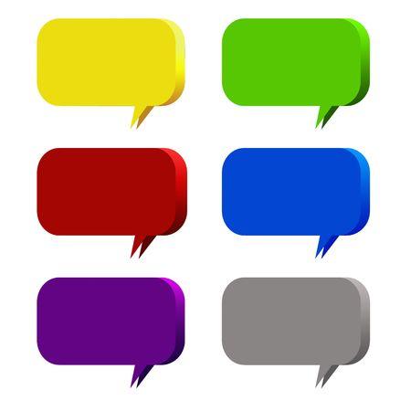 dipping: symbol talk Stock Photo