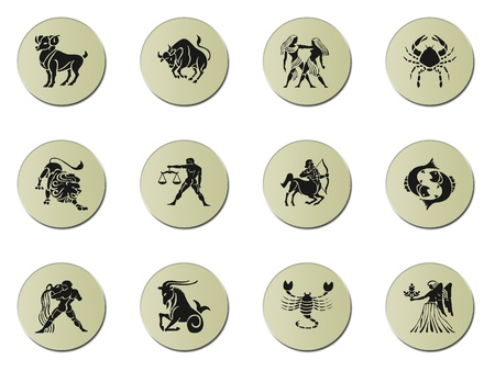 zodiac signs isolated on white Stock Photo - 8891952