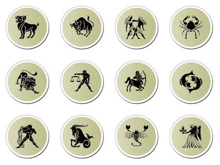 zodiac signs isolated on white photo