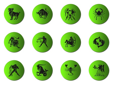 zodiac signs isolated on white Stock Photo - 8891959