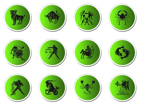 zodiac signs isolated on white Stock Photo - 8892034