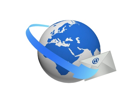 Global communications through the use of e-mail Stock Photo - 8904281