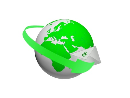 Global communications through the use of e-mail Stock Photo - 8904282