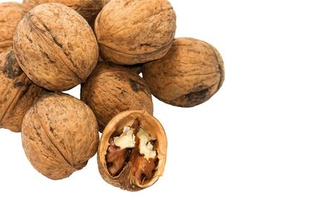 beautifu: Beautifu walnuts isolated on white background