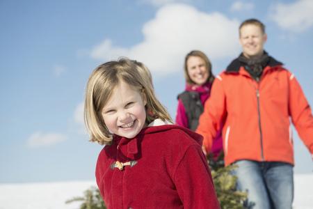 Portrait of family, smiling, Bavaria, Germany LANG_EVOIMAGES