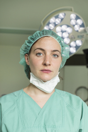 Female surgeon in hospital