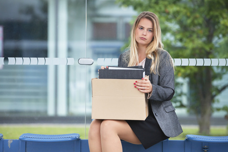 dept: Woman penniless Person jobless layoff frustrated LANG_EVOIMAGES