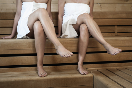 conformance: Two women in a sauna