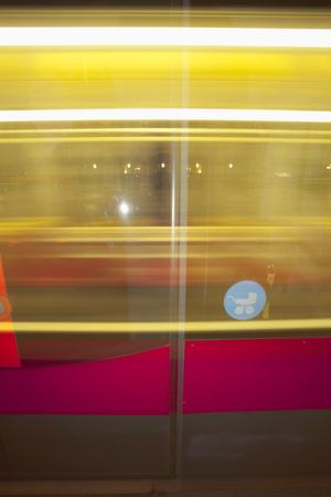 Tram night Vienna blur speed movement unsharp