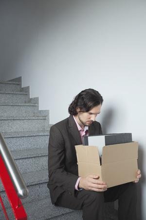 hassle: Man depressed sad unemployed alone worried