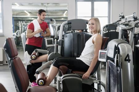 lust for life: Portrait woman fitness studio man sport fit LANG_EVOIMAGES