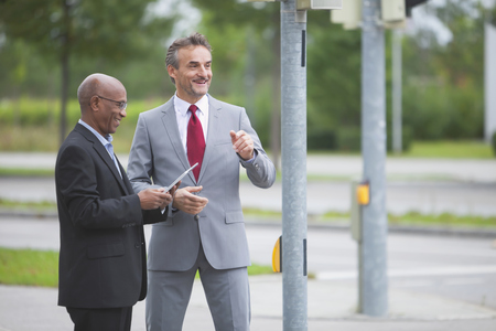 Meeting crossroads development Multi-cultural men
