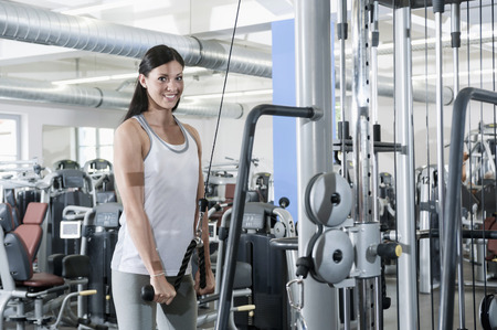 lust for life: Attractive young woman portrait fitness studio