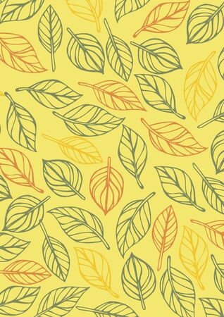 Handwritten leaf background, material that can be used for frames 写真素材