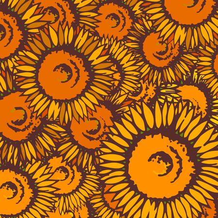 Background material designed with sunflower motif
