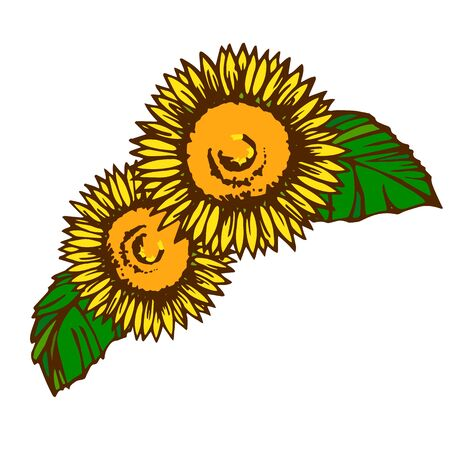 Parts material designed with sunflower motif