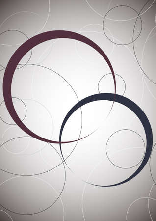 The background material of the design which used a lot of circles