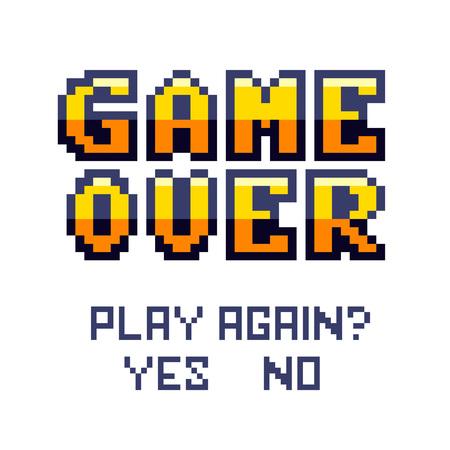 Pixel art design isolado no fundo branco. Pixel art para design de jogos. Ilustración de vector