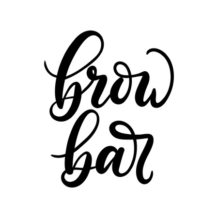 Brow Bar logo. Calligraphy for logo, cards, prints, beauty blogs.