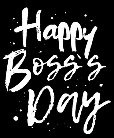 Boss's day card set with modern calligraphy.Gift tags with gold, black, white colors. Lettering deign for greeting cards or party invitations. Best boss ever. You are the best boss. Happy Boss's Day. Illustration