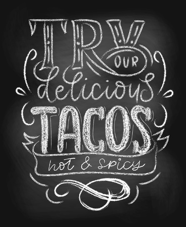 Tacos chalkboard poster