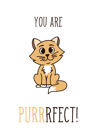 Inspirational phrase with cute cat.