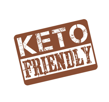 Keto friendly stamp isolated on white background. Vector illustration