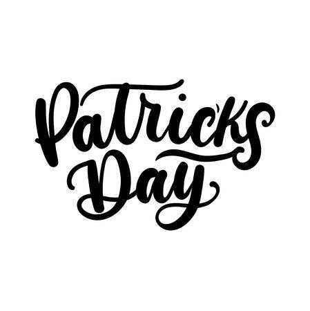 Patrick's day lettering inscription for Patrick's day. Vector illustration Reklamní fotografie - 123026483