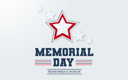 Memorial day USA design concept with stars. Vector illustration for memorial day.