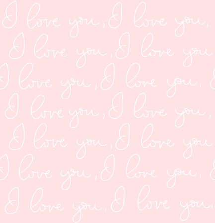 Baby I love you forever inspirational lettering seamless pattern with golden effect. Motivational lettering design.Vector lettering illustration.